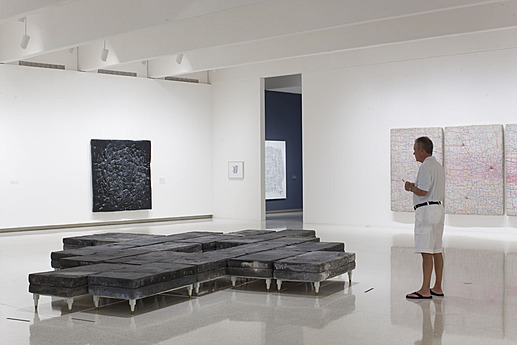 Installation view of the exhibition Guillermo Kuitca: Everything—Paintings and Works on Paper, 1980–2008
