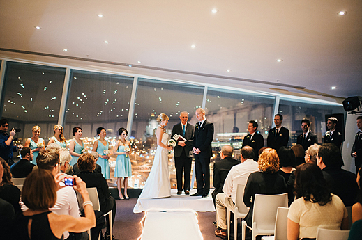 Wedding Ceremony in the Skyline Room